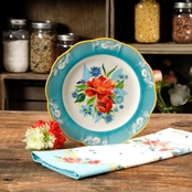 Pioneer Woman 9 in. Spring Bouquet Dessert Plate