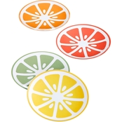 Martha Stewart Collection Citrus Melamine Appetizer Plates, Set of 4