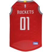Pets First NFL Houston Rockets Basketball Mesh Jersey for Dogs