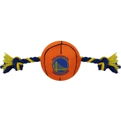 Pets First Golden State Warriors Plush Basketball Rope Toy