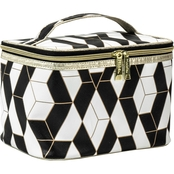 Allegro Modella Black & White Geo Train Case