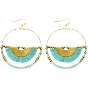 Panacea Turquoise Hoop Earring With Half Moon Detail