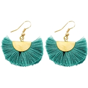 Panacea Turquoise Fan Earrings