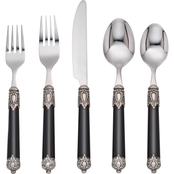 Cambridge Silversmiths 20 Pc Nea Black Flatware Set
