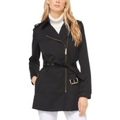 Michael Kors Zip Front Trench Coat