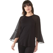Michael Kors Flutter Sleeve Mix Top