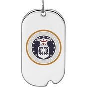 Sterling Silver Rhod-tone US Air Force Dog Tag