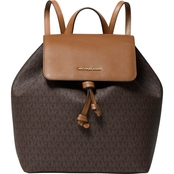 Michael Kors Junie Signature Flap Backpack