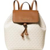 6a949f5608fe59 Michael Kors Junie Signature Flap Backpack