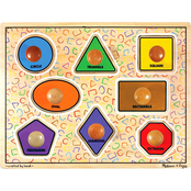 Melissa & Doug Large Shapes Jumbo Knob Puzzle