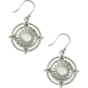 Lucky Brand Clustered Chain Pearl Drop Earrings