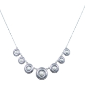 Lucky Brand Silvertone Pearl Collar 17 in. Necklace