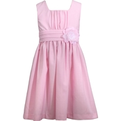 Bonnie Jean Girls Emma Linen Look Dress