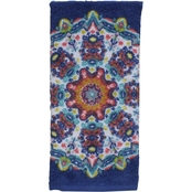 1888 Mills Peach & Oak Tribal Medallion Printed Hand Towel