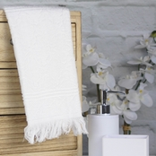 1888 Mills Peach and Oak Tangier Hand Towel
