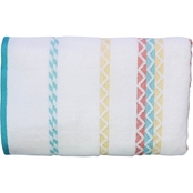 1888 Mills Peach & Oak Sophia Multi Weft Insert Bath Towel