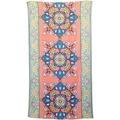 1888 Mills Peach & Oak Morroccan Carpet Printed Beach Towel