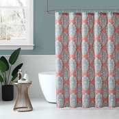 1888 Mills Peach and Oak Zaria Shower Curtain 72 x 72 in.