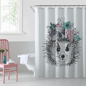 1888 Mills Oh Hello Hedgehog Shower Curtain
