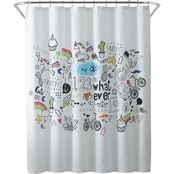 1888 Mills Oh Hello Doodle 72 x 72 in. Shower Curtain
