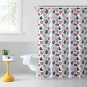 1888 Mills Oh Hello Cat & Junkfood Shower Curtain