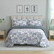 1888 Mills Peach and Oak Mindy Paisley Comforter Set