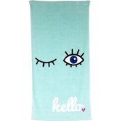 1888 Mills Oh HelloWink Print 27 x 52 in. Bath Towel