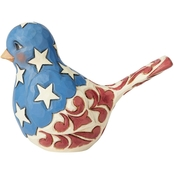 Jim Shore Heartwood Creek Red, White & Blue Bird Figurine