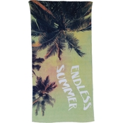 1888 Mills Oh Hello Endless Summer Print Beach Towel 32 x 62 in.