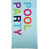 1888 Mills Oh Hello Pool Party Print 32 x 62 in. Beach Towel