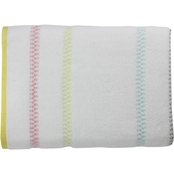 1888 Mills Oh Hello Chevron Multi Brights Stripe 30 x 54 in. Bath Towel