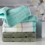 1888 Mills Oh Hello Blue and Gray Washcloth 6 pk.