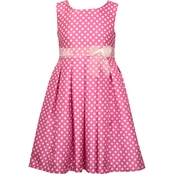 Bonnie Jean Girls Dot Box Pleat Party Dress