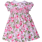 Bonnie Jean Infant Girls Cabbage Rose Smock Dress
