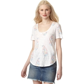 Lucky Brand All Over Paisley Floral Tee