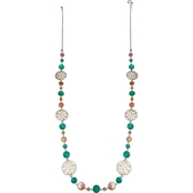 jules b Coral and Turquoise Shell Long Necklace