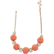 Jules B. Coral Seed Bead Short Necklace