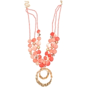 jules b Coral Shell Pendant Necklace