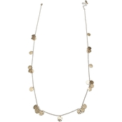 jules b Goldtone Hammered Shaky Long Necklace