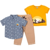 Little Lads Toddler Boys Sunshine All Day 3 pc. Pant Set