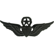 Army Master Aviation Badge Sta-Black Pin-On