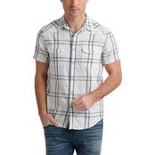c648e8822268 Lucky Brand Santa Fe Plaid Western Woven Shirt