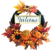 ICE Design Factory 18 in. Harvest Welcome Wreath