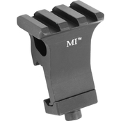 Midwest Industries Mount Picatinny Offset Rail at 22.5 Degrees (1 O'clock) Black