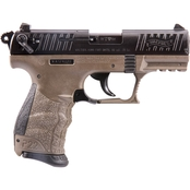Walther P22-CA 22 LR 3.4 in. Barrel 10 Rds Pistol Black with Flat Dark Earth Frame