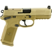 FN FNX-45 Tactical 45 ACP 4.5 in. Barrel 10 Rds 3-Mags NS Pistol Flat Dark Earth