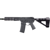 LWRC Direct Impingement 556NATO 10.5 in. Barrel 30 Rds Pistol Black with Brace