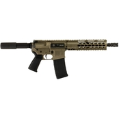 Diamondback DB15P300FDE10 300 Blackout 10.5 in. Barrel 30 Rds Pistol FDE