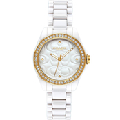 Coach Astor White Ceramic Bracelet Watch 14503254