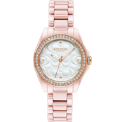 Coach Astor Blush Ceramic Bracelet Watch 14503256